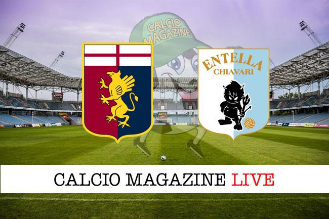 Genoa Virtus Entella cronaca diretta live risultato tempo reale