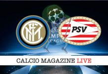 Inter PSV cronaca diretta live risultato tempo reale