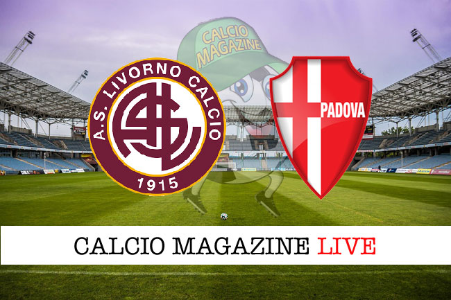 Livorno Padova cronaca diretta risultato in campo reale