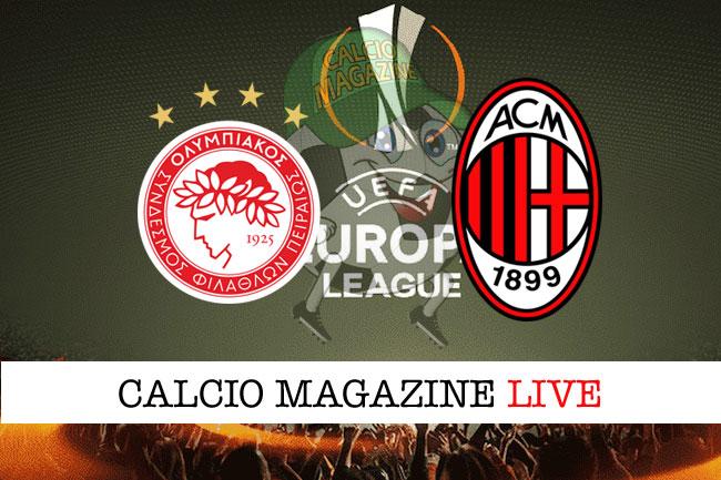Olympiakos Milan cronaca diretta live risultato tempo reale