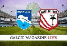 Pescara Carpi cronaca diretta live risultato in tempo reale