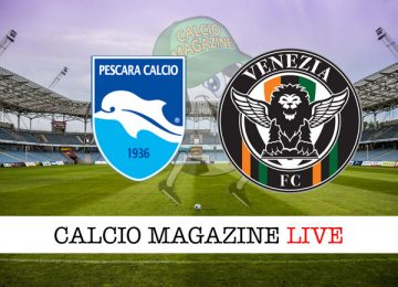 Pescara Venezia cronaca diretta risultato in tempo reale