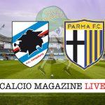 Sampdoria Parma cronaca diretta risultato tempo reale