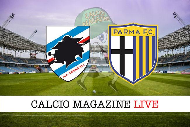 Sampdoria - Parma, le formazioni ufficiali