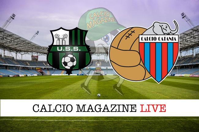 Sassuolo Catania cronaca diretta live risultato tempo reale