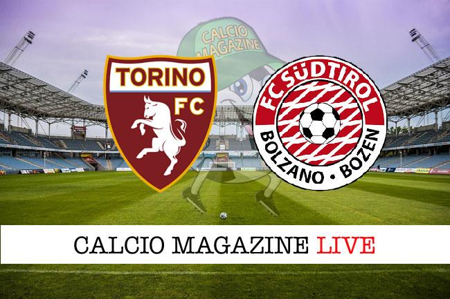 Torino Sud Tirol cronaca diretta live risultato tempo reale