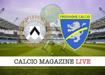 Udinese Frosinone cronaca diretta risultato in tempo reale