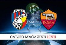 Viktoria Plzen Roma cronaca diretta live risultato tempo reale
