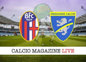 Bologna Frosinone cronaca diretta live risultato in campo reale