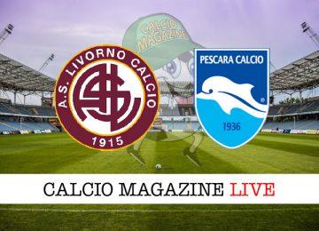 Livorno Pescara cronaca diretta live risultato in campo reale