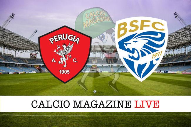 Perugia Brescia cronaca diretta live risultato in campo reale