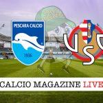 Pescara Cremonese cronaca diretta risultato in campo reale