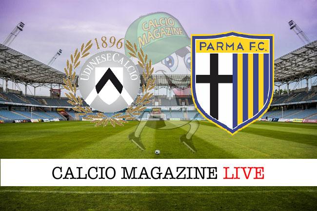 Udinese Parma cronaca diretta risultato in campo reale