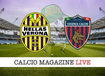 Hellas Verona Cosenza cronaca diretta live risultato in campo reale