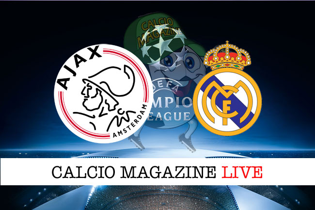 Ajax Real Madrid cronaca diretta live risultato in tempo reale