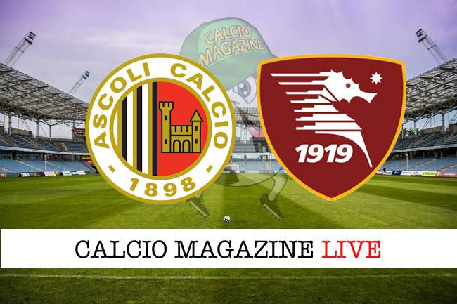 Ascoli Salernitana cronaca diretta live risultato in tempo reale