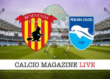 Benevento Pescara cronaca diretta live risultato in tempo reale
