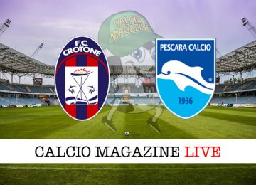 Crotone Pescara cronaca diretta live risultato in tempo reale