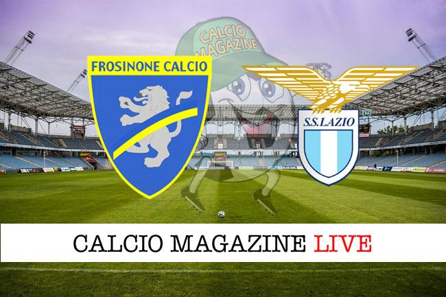 Frosinone Lazio cronaca diretta live risultato in campo reale