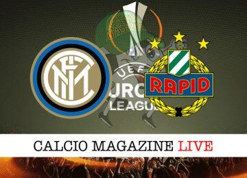 Inter Rapid Vienna cronaca diretta live risultato in tempo reale