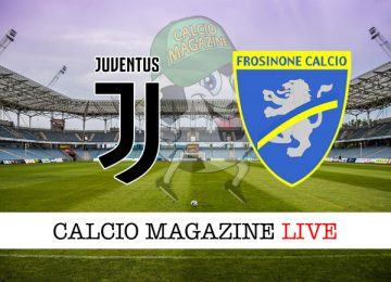 Juventus Frosinone cronaca diretta live risultato in tempo reale