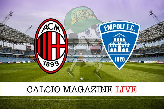Milan Empoli cronaca diretta live risultato in tempo reale
