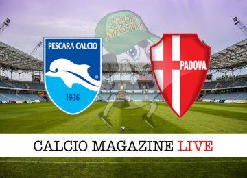Pescara Padova cronaca diretta live risultato in tempo reale