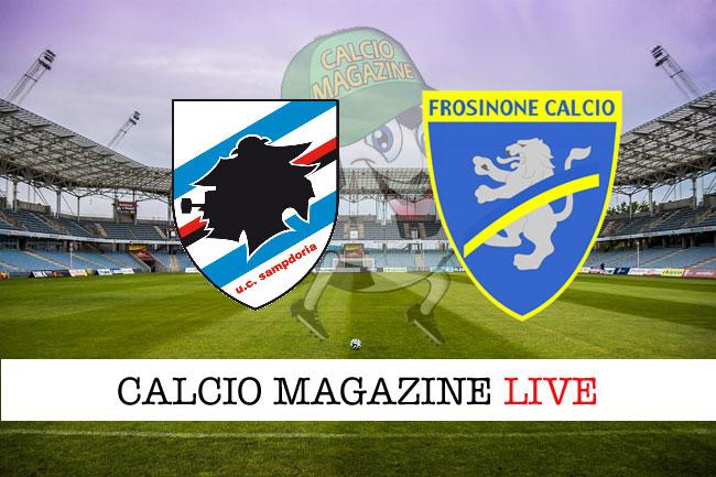 Sampdoria - Frosinone 0-1, il tabellino