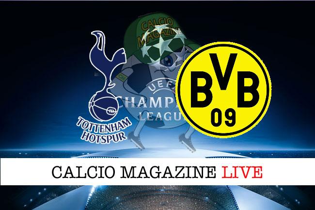 Tottenham Borussia Dortmund cronaca diretta live risultato in tempo reale
