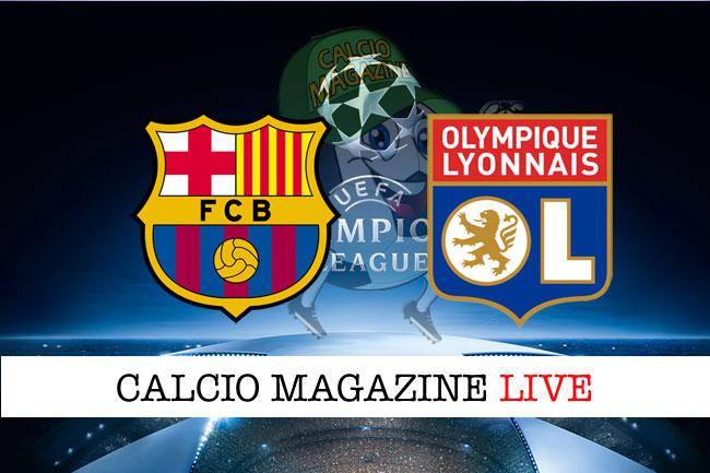 Barcellona Lione cronaca diretta live risultato in tempo reale