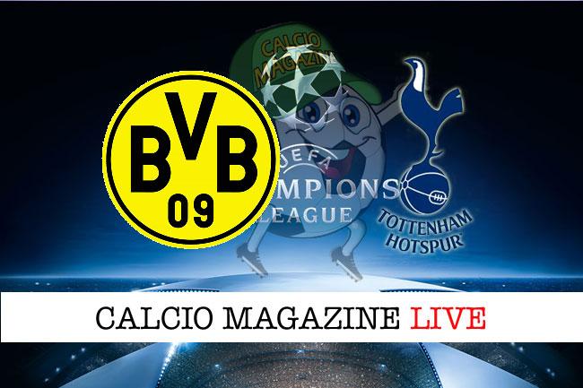 Borussia Dortmund Tottenham cronaca diretta live risultato in tempo reale
