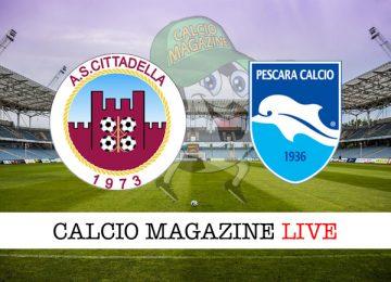 Cittadella Pescara cronaca diretta live risultato in tempo reale