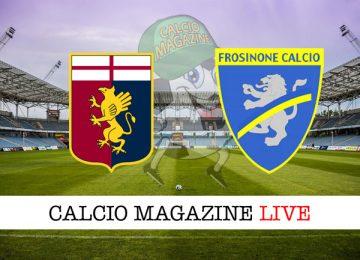 Genoa Frosinone cronaca diretta live risultato in tempo reale