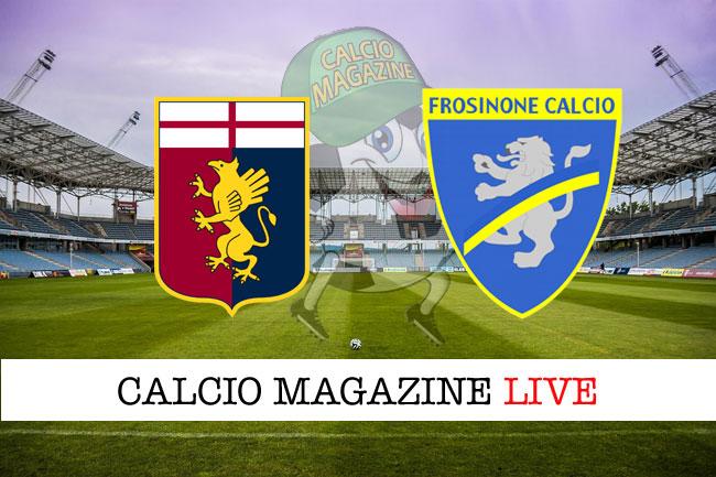 Genoa - Frosinone 0-0, il tabellino