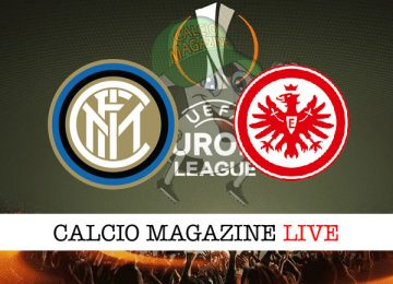 Inter Eintracht Francoforte cronaca diretta live risultato in tempo reale