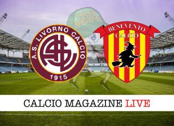 Livorno Benevento cronaca diretta live risultato in tempo reale