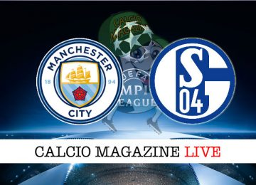 Manchester City Schalke 04 cronaca diretta live risultato in tempo reale