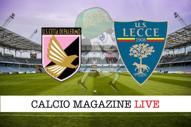 Palermo Lecce cronaca diretta live risultato in tempo reale