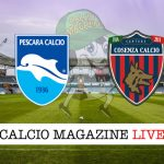 Pescara Cosenza cronaca diretta live risultato in tempo reale
