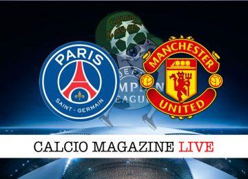 PSG Manchester United cronaca diretta live risultato in tempo reale