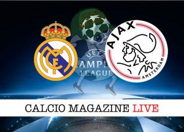 Real Madrid Ajax cronaca diretta live risultato in tempo reale