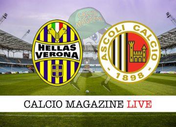 Hellas Verona Ascoli cronaca diretta live risultato in tempo reale