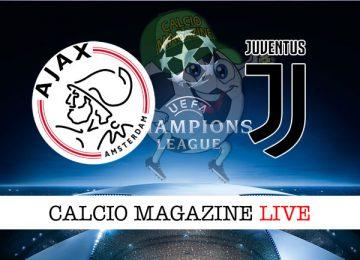 Ajax Juventus cronaca diretta live risultato in tempo reale