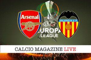 Arsenal Valencia cronaca diretta live risultato in tempo reale
