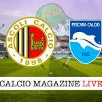 Ascoli Pescara cronaca diretta live risultato in tempo reale