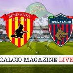 Benevento Cosenza cronaca diretta live risultato in tempo reale