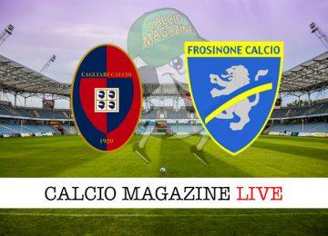 Cagliari Frosinone cronaca diretta live risultato in tempo reale
