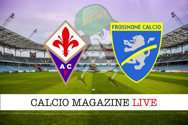 Fiorentina Frosinone cronaca diretta live risultato in tempo reale