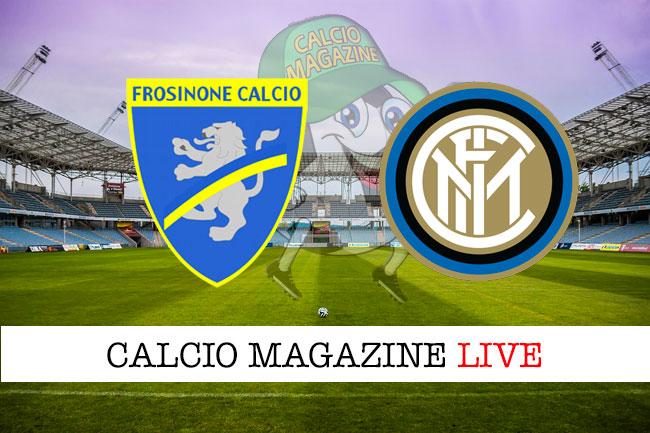 Frosinone Inter cronaca diretta live risultato in tempo reale