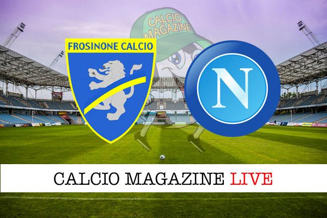Frosinone Napoli cronaca diretta live risultato in tempo reale